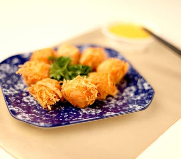 Cheesy Fried Shrimp Balls