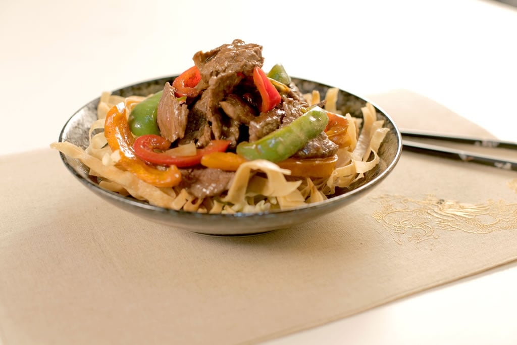 knorr-beef-flank-steak-shredded beef with-black-pepper-sauce