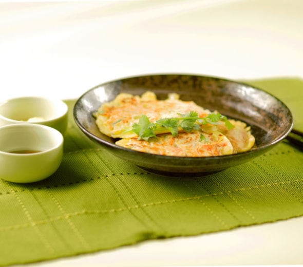 Savory Chinese Seafood Scallion Pancakes