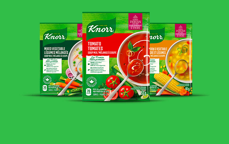 Vegetarian soups made with real vegetables