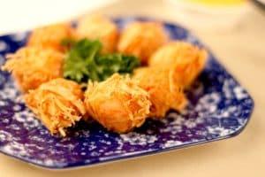 Boulettes de crevettes avec fromage