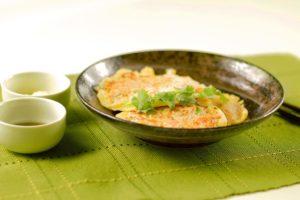 Crêpes aux fruits de mer et légumes