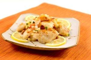 Filet de limande avec sauce au citron