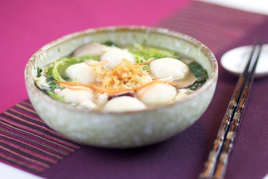 Soupe aux boulettes de riz gluant savoureuse