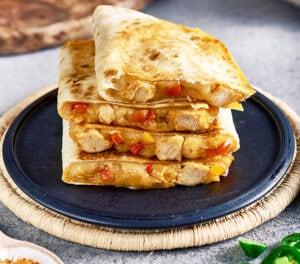 Quesadillas au poulet halal