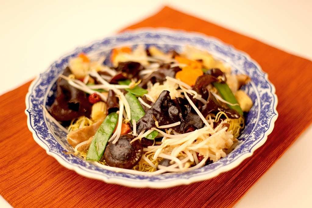 正宗的中式罗汉斋炒面
