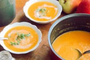 椰子苹果浓汤