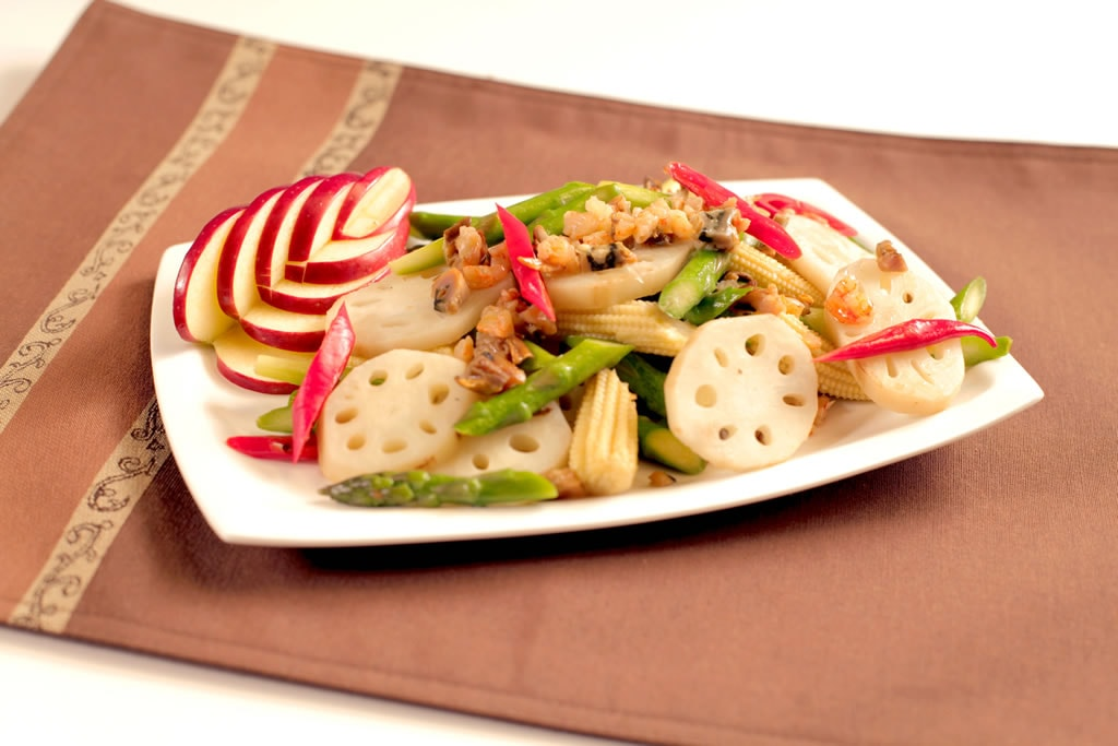 knorr-appetizer-dry-oyster-soaked-dry seafood stir-fry-with-vegetables