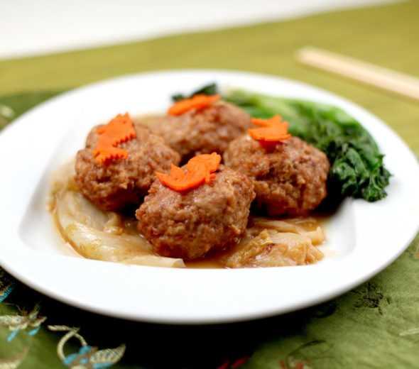 knorr-bok-choi-ground-pork shanghai lions head-meatball-590x520