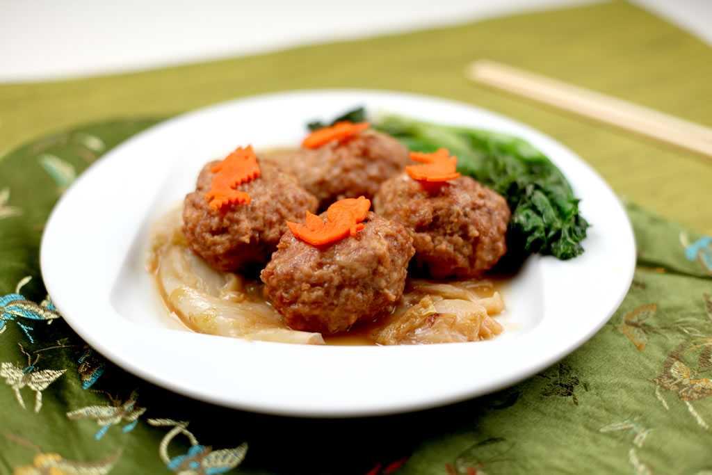 knorr-bok-choi-ground pork shanghai lions-head-meatball