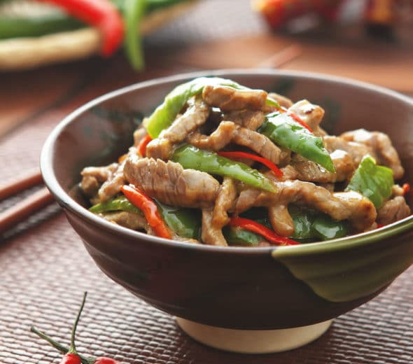 Tender Sautéed Beef and Hot Pepper Dish