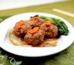 shanghai lions head meatball