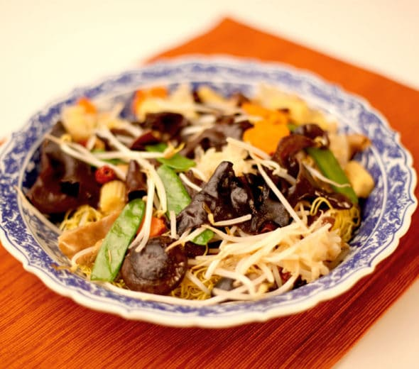 AUTHENTIC CHINESE LO HAN VEGETARIAN EGG NOODLE