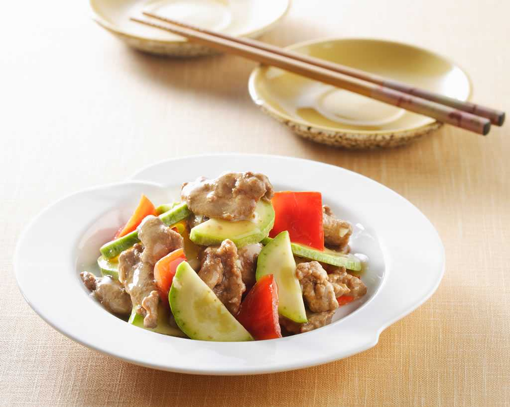 knorr-pork-cucumber sliced pork and-cucumber-stir-fry