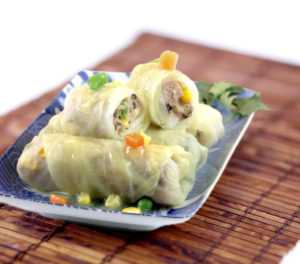 Traditional Chinese Steamed Stuffed Cabbage Rolls