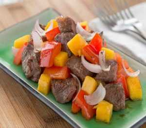 knorr-chinese beef-mango-recipe