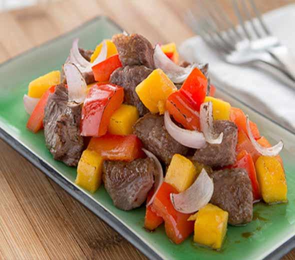 knorr-chinese beef-mango-recipe