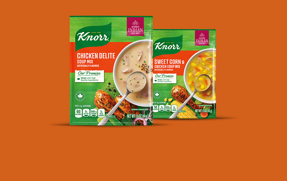 Chicken soups made with real chicken