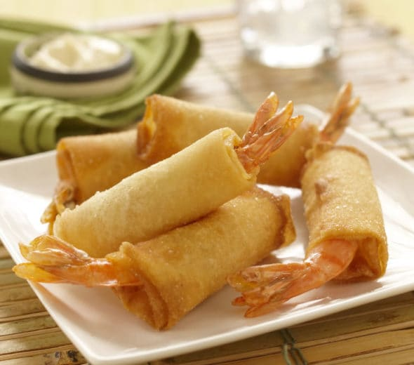 Fried Shrimp Spring Rolls